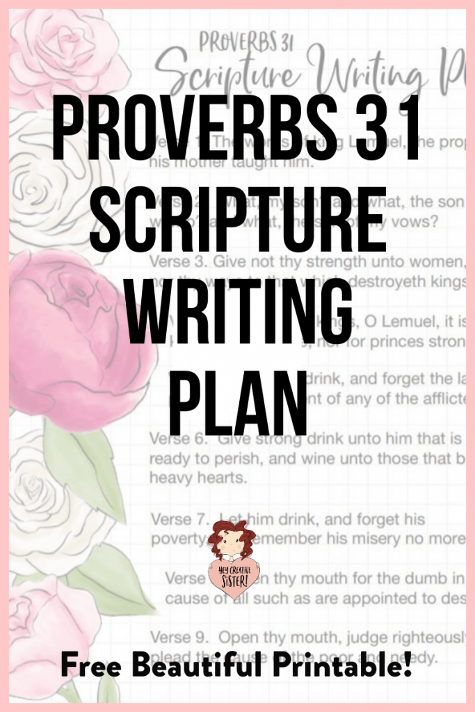 Proverbs Women- Scripture Writing Plan