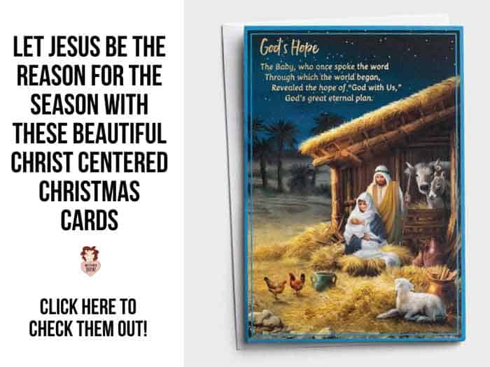 Let Jesus be the Reason for the Season with These Beautiful Christ Centered Christmas Cards