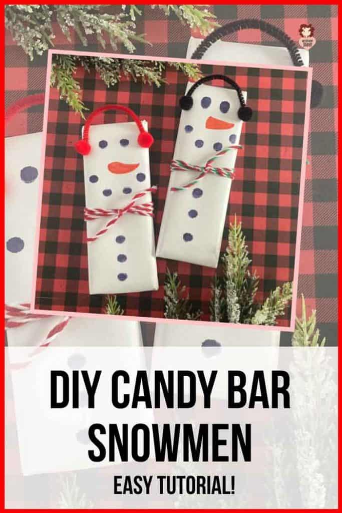 snowman candy bars tutorial