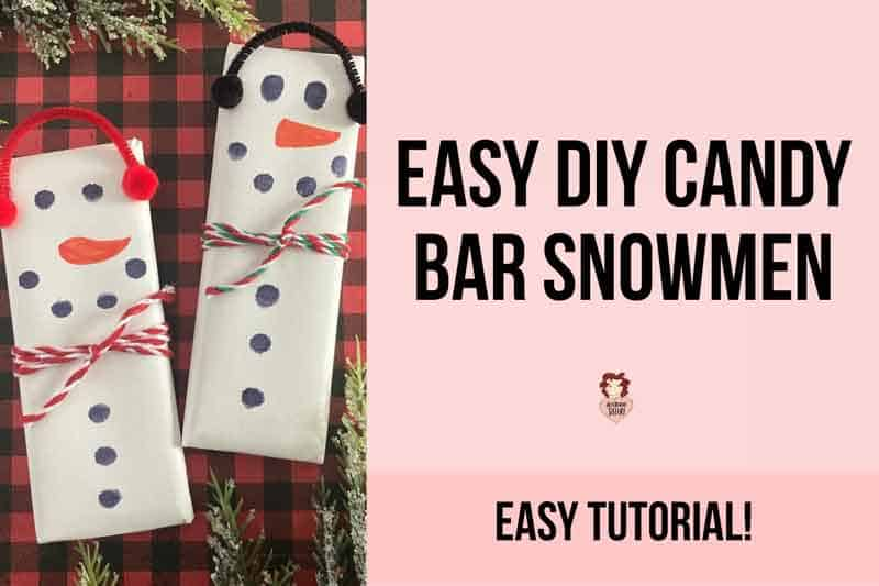 How to Make Snowman Candy Bars